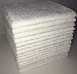 White Tone on White Fat Quarter Bundle - 15 Fat Quarters