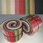 Limited Edition Quilting Treasures Windsor Scrolls - 40 Strips Total, Set of 2 Rolls
