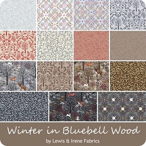 Winter in Bluebell Wood - Lewis & Irene Fabulous Forties - 40 Strips
