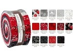 Robert Kaufman Winter's Grandeur by RK Studio - Scarlet 2019 Roll-up - 40 Strip Roll