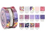 Robert Kaufman Woodside Blossom Spring Roll-up - 40 Strip Roll