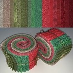 Limited Edition Vintage Christmas Colors Bundle - 40 Strips Total, Set of 2 Rolls