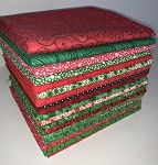 Fat Quarters - Christmas Blenders (100% Cotton) - 20 Fabrics, 20 Total Fat Quarters