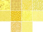 Charm Pack 5x5 Squares - Basic Colors Yellow - 40 5