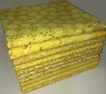 Basic Colors - Yellow Fat Quarter Bundle - 10 Fabrics, 10 Total Fat Quarters