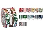 Robert Kaufman Yuletide Bells Roll-up - 40 Strip Roll